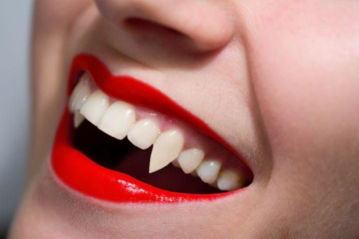 fake vampire teeth that look real   ... something like 'teeth smile' or 'open teeth smile' and found an image