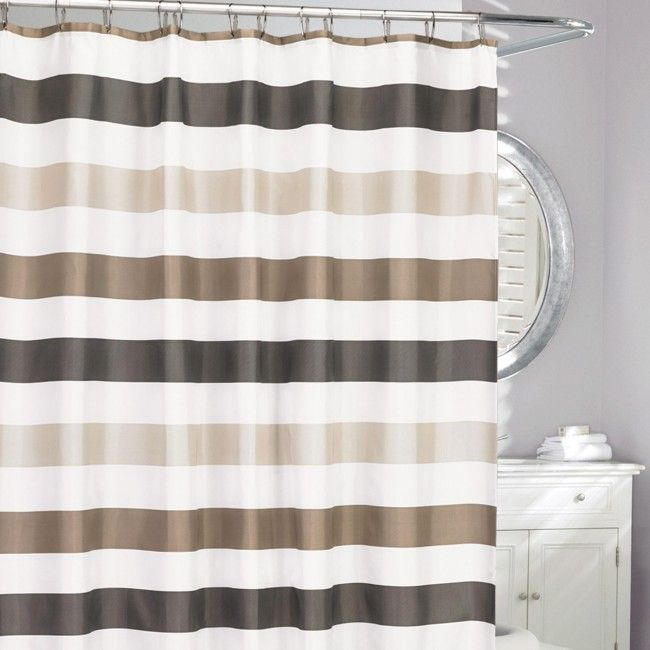 Freshen up your bathroom decor the easy way with a new Moda At Home Shower Curtain.