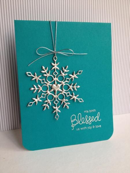 Silver Snowflake by lisaadd - Cards and Paper Crafts at Splitcoaststampers