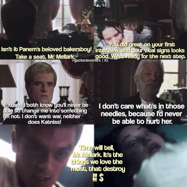 "@hijackedeverlark's photo: ""- With the newly released deleted scene from Mockingjay Part 1, I finally got to make an edit of how the whole thing went down, of how Snow made Peeta his personal puppy doll. To show you guys how Peeta fought with all his heart and defended Katniss until his last memory faded away into the abyss of distorted memories. And I wanted to turn the quote around and make Snow say it to Peeta. - I hope you guys like it! ☺️"" #JoshHutcherson #PeetaMellark"