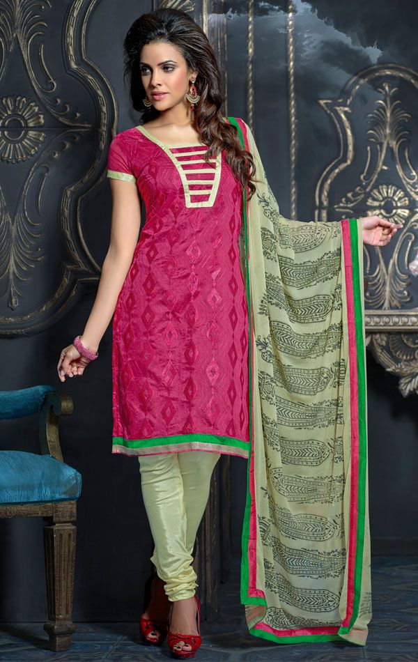 Show details for Trendy Fuchsia Color Indian Salwar Kameez