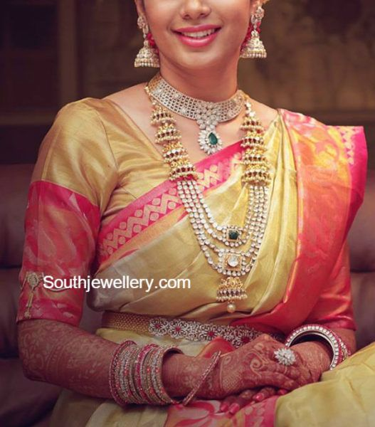 Bride in Diamond and Polki Jewellery photo