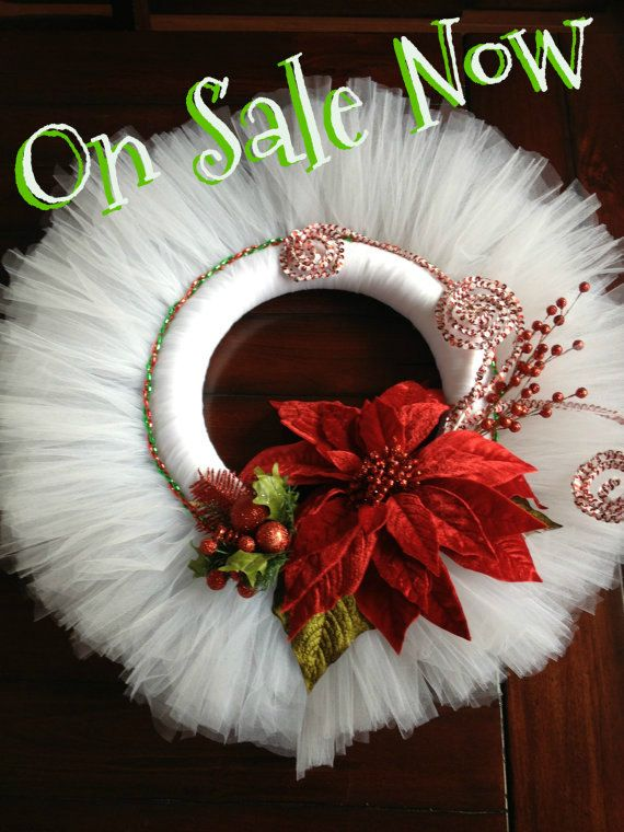 Want to try and make this myself! Christmas Wreath Tulle by APomPomAffair on Etsy