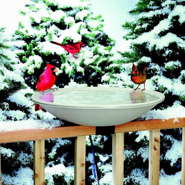 Deck Mount Heated Bird Bath