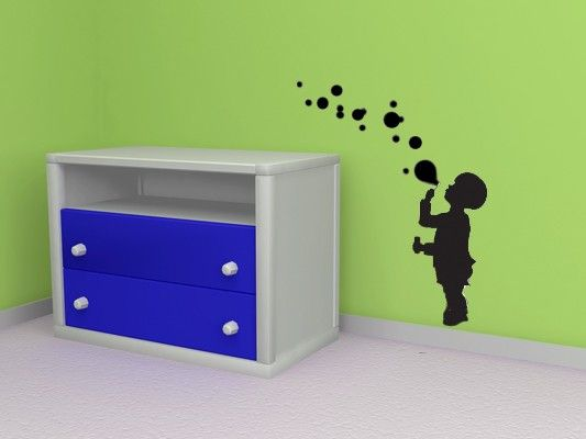 Boy Blowing Bubbles  Vinyl Wall Art Decal by VinylWallAccents, $28.00