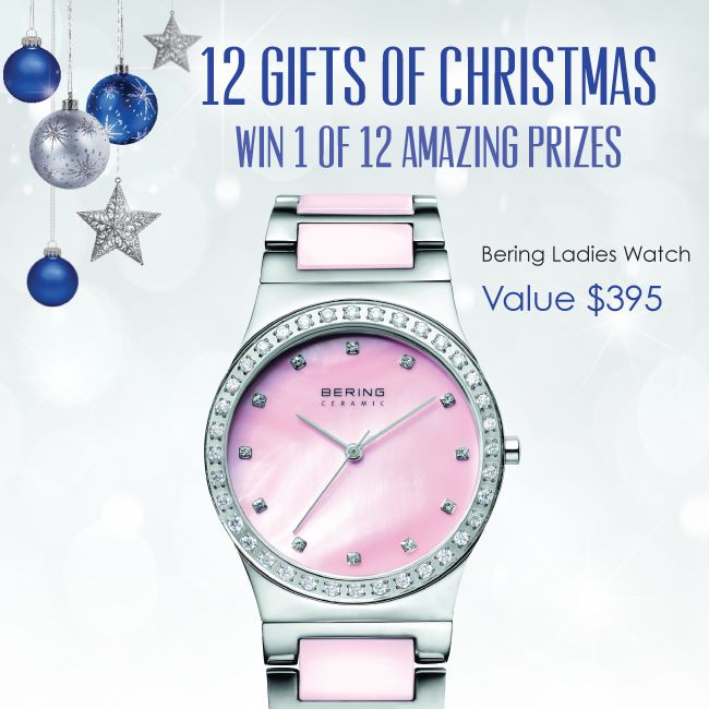 Pink BERING watch, another one of the 12 Gifts of Christmas. www.yorkjewellers.com.au