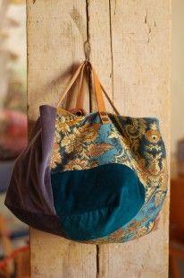 sac en velours bio et tapisserie