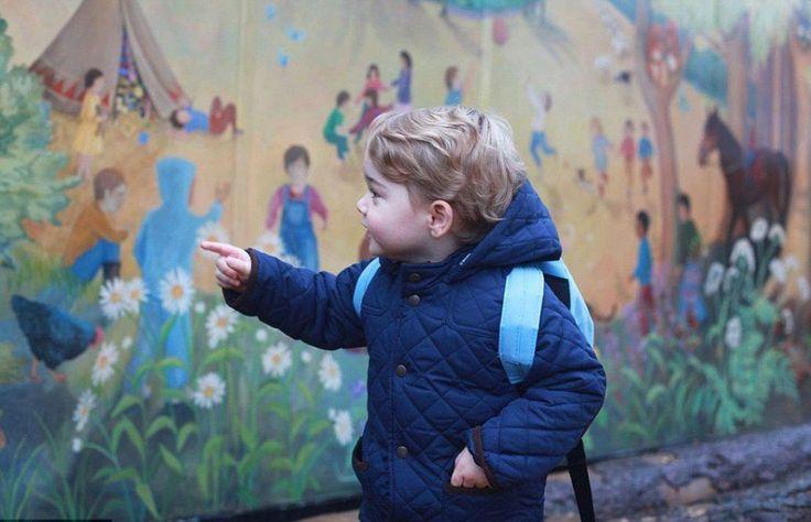 Lief: prins George gaat naar dezelfde school als prins William en oom Harry >>