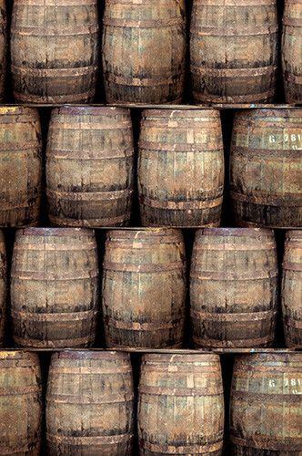 6748 Old Wood Barrels Photography Backdrop