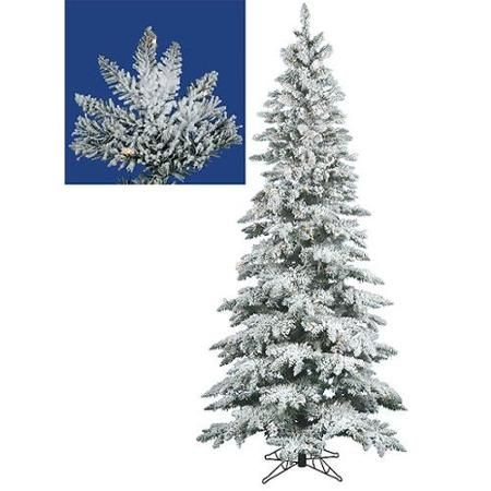 Skinny Flocked Christmas Tree