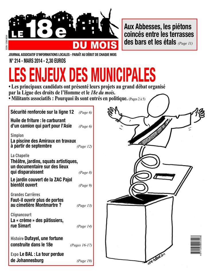Le 18eme du mois est un mensuel papier couvrant l 39 actualit du 18e arrondissement de paris il - L art du papier paris ...