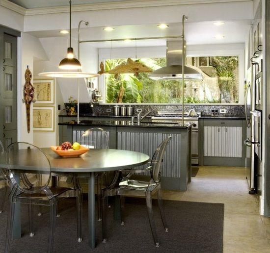 eklektische Kleinküche Esszimmer einrichten