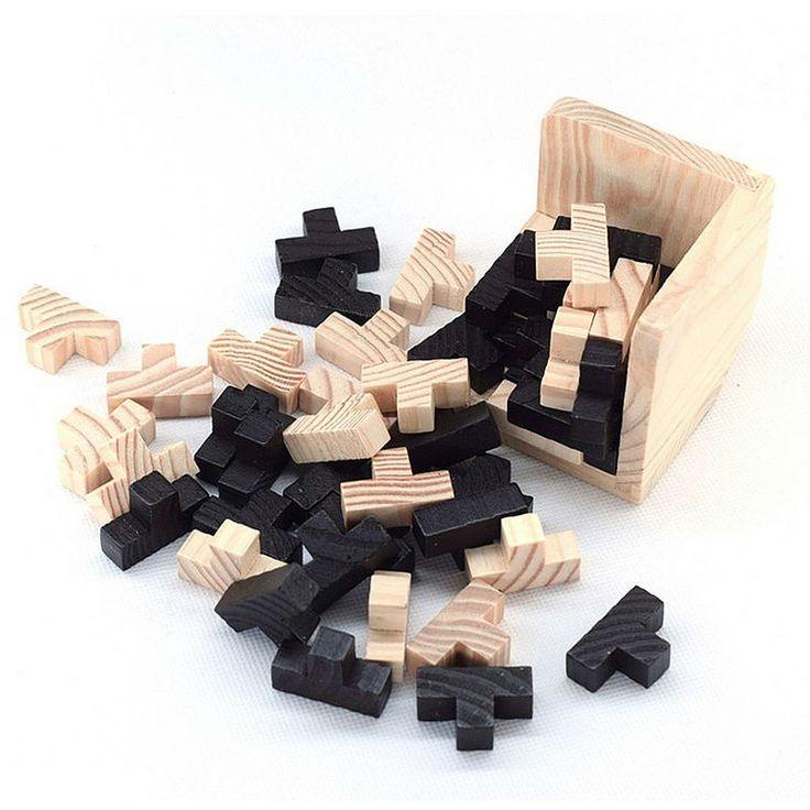 教育ウッドパズル大人のための子供頭の体操3dロシア明ルバニ教育子供のおもちゃ子供のギフト赤ちゃん子供の玩具