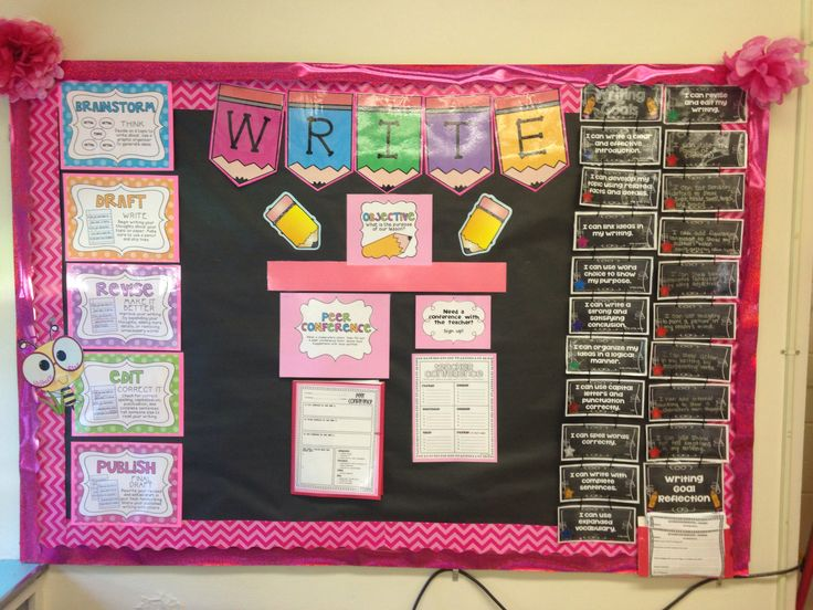 Back To School Writing Bulletin Board Showing The Writer S