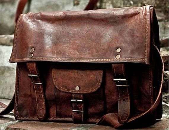 NEW HANDMADE STYLISH RUSTIC VINTAGE BRIEFCASE / MESSENGER BAG    This bag is inspired by the classic Italian vintage satchels. It is perfect for