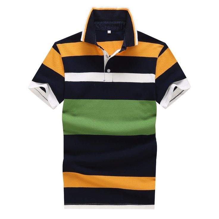 YG6188-XY1011 The new summer 2017 middle-aged short-sleeved cotton stripe Polo shirt business men's clothing cheap wholesale