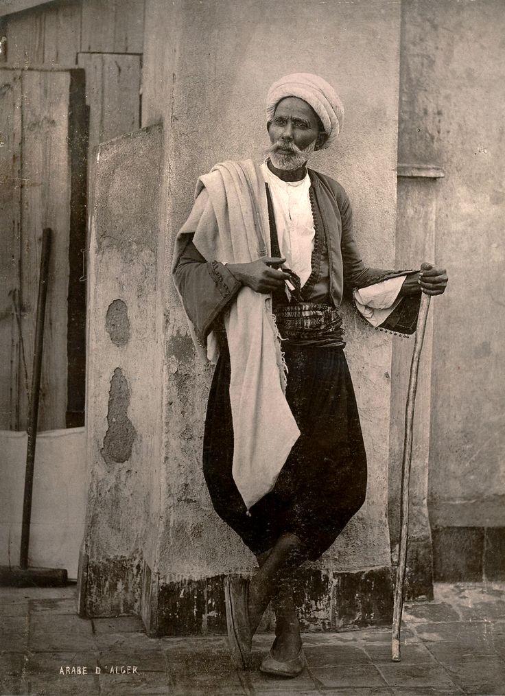Algiers's Townman near 1875  Algérie, Arabe d'Alger 1875