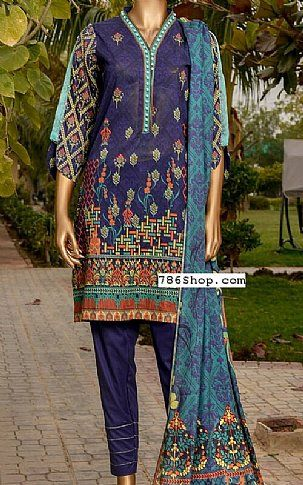 fd4db09535 Indigo Lawn Suit   Buy Legends Pakistani Dresses and Clothing online in  USA, UK