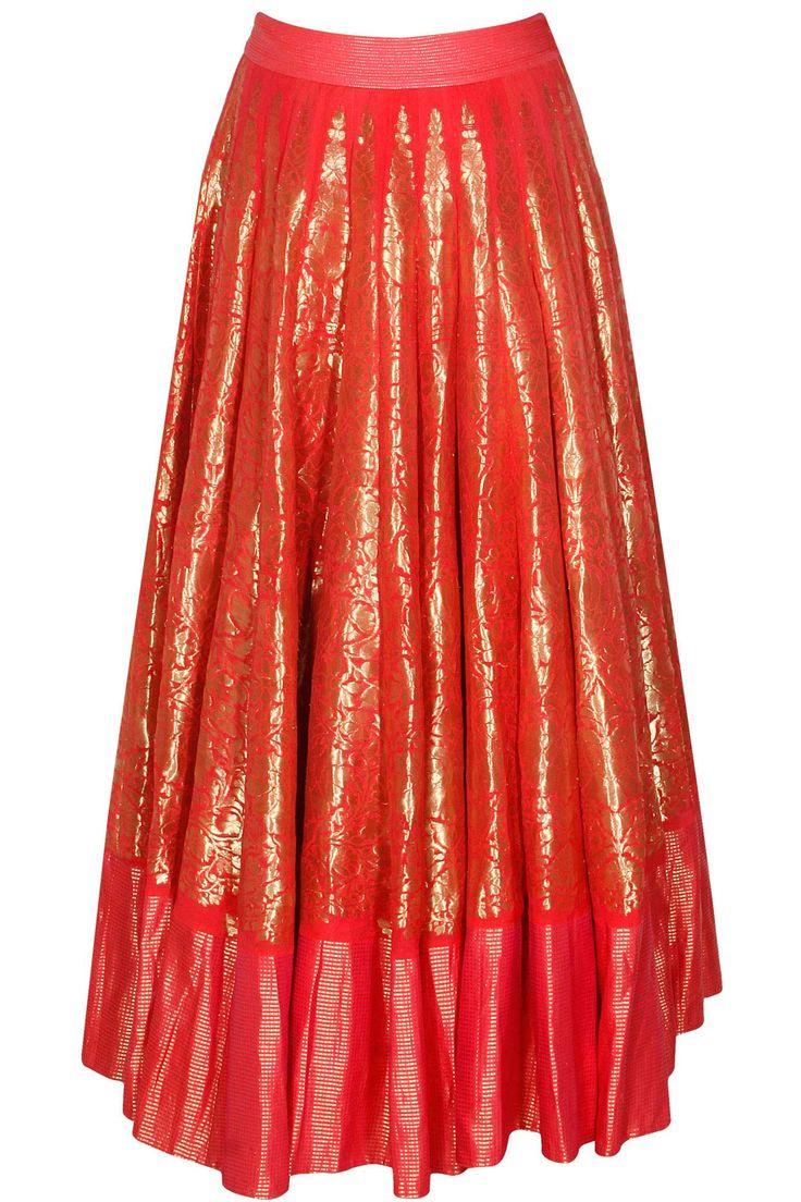 Hot pink hand woven chintz jhaad lehenga available only at Pernia's Pop Up Shop.#designer #fashion #HappyShopping #love #shopnow #rahulmishra #festive