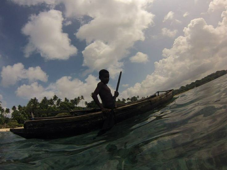 Canoe rides Kiriwina island