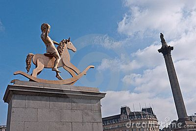 Fouth Plinth Trafalgar Square Free Stock image