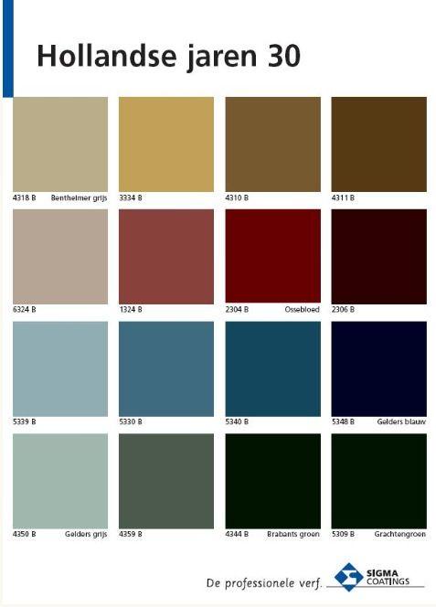 Jaren 30 kleuren