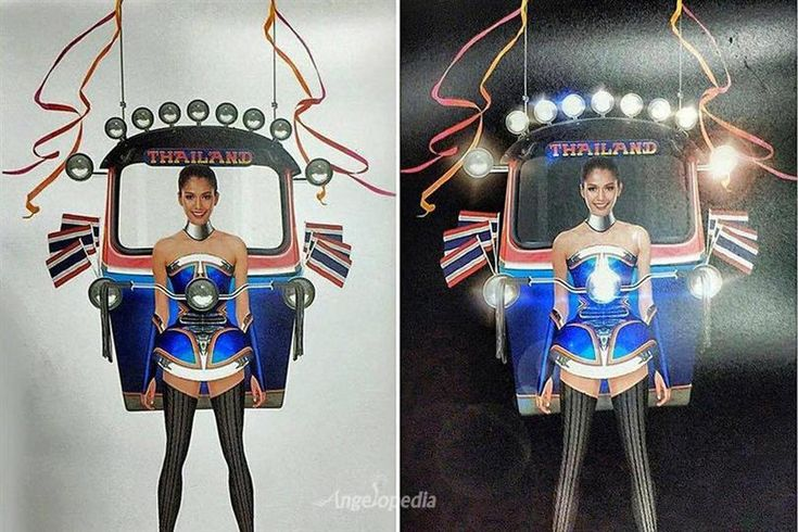 National Costume of Thailand at Miss Universe 2015 is a 'Tuk Tuk'