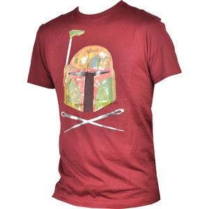 Ti-a placut personajul Boba Fett din seria Star Wars? Tricoul Camo Boba creat de Marc Ecko il infatiseaza perfect. Este de culoare grena si este confectionat din 100% bumbac.  Achizitioneaza-l acum si il vei putea incadra cu usurinta in orice tinuta doresti.