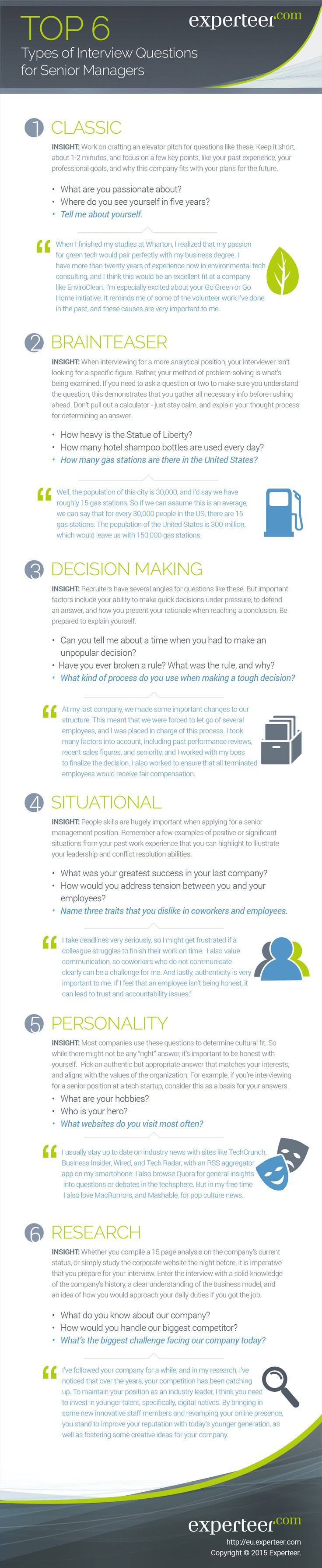 15 best general job search sites images on pinterest job search the top 6 most common interview questions for senior managers falaconquin