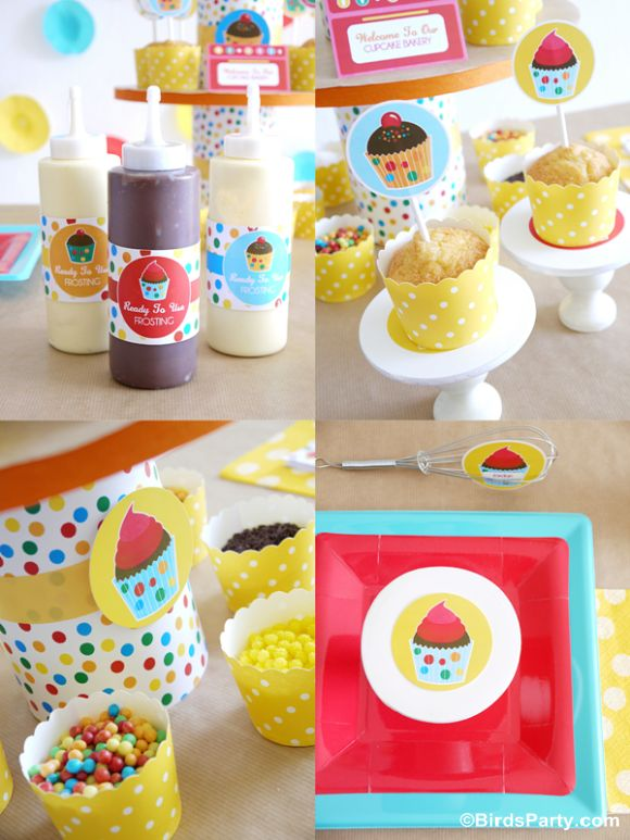 Party Printables | Party Ideas | Party Planning | Party Crafts | Party Recipes | BLOG Bird's Party: How to Style a Kid-Friendly Baking Party