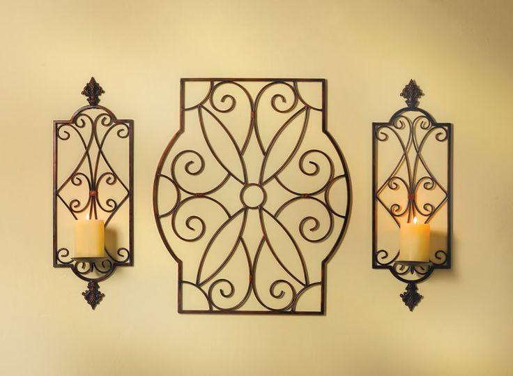 Elegant Iron Wall Decor : Wrought iron wall decor adding tuscan designer elegance