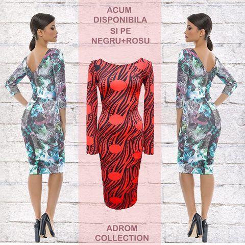 Rochie confecționată din jerse, cu mânecă lungă, acum disponibilă și pe roșu + negru ❕.   Se mulează foarte frumos pe corp, iar imprimeurile sunt unele deosebite, florale, care scot orice ținută din anonimat.   Se poate comanda, în regim angro, de aici:  www.adromcollection.ro/rochii/334-rochie-angro-r540.html