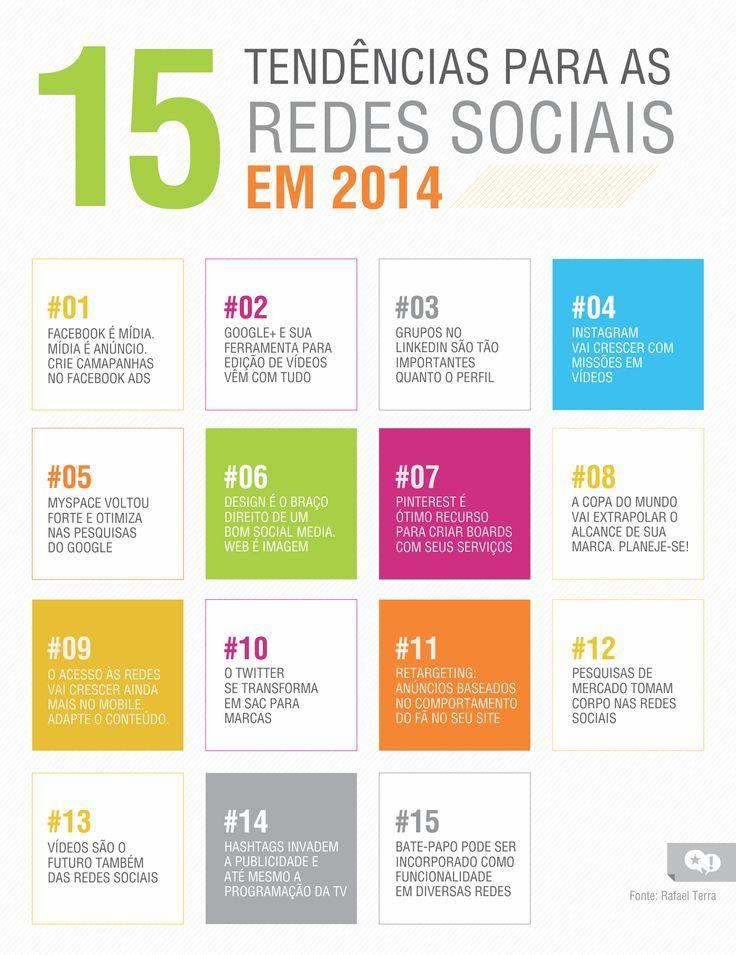 15 Tendências para Redes Sociais em 2014 #infografico  #socialmedia #comportamento
