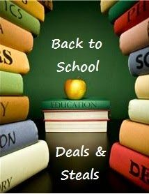 Back to School Deals--7/7/13 through 7/13/13. Can you believe back to school sales started this week?!?