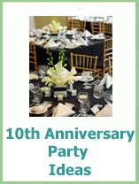Lots of 10th anniversary party ideas to suit all budgets