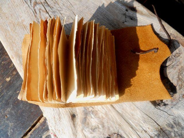 mini quaderno carta anticata