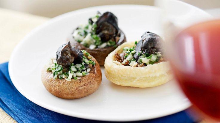 Spinach & ricotta stuffed mushrooms