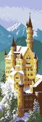 Замок Нойшванштайн - Пейзажи, здания - Схемы вышивки - Иголка