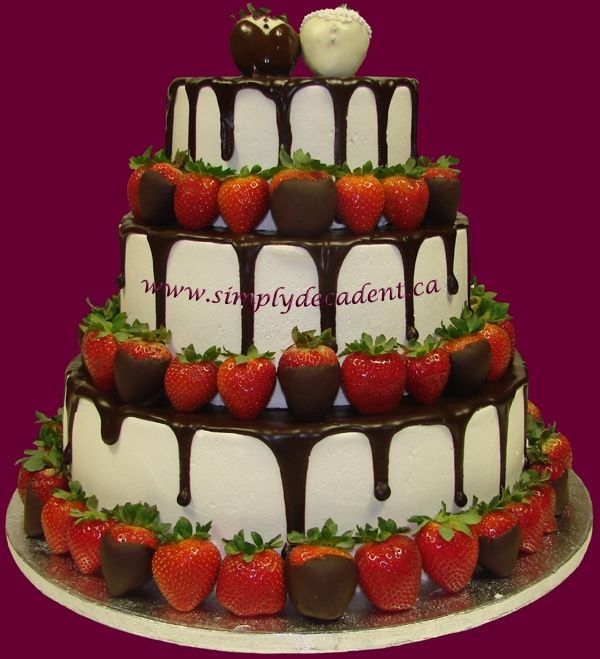 chocolate covered strawberry wedding cake - Google Search