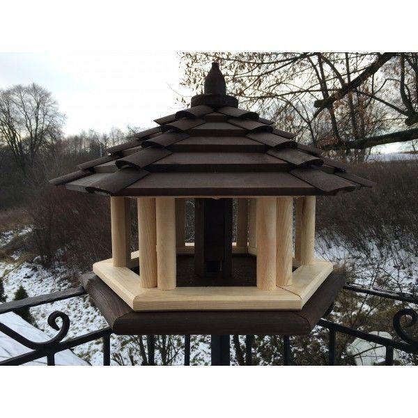 Vogelhaus Luxus Dunkel Braun KPMC