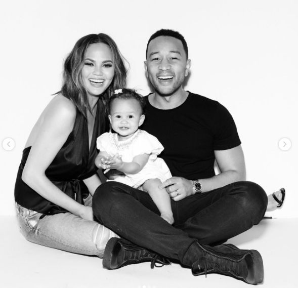 John Legend And Chrissy Teigen Mark Luna's 1st Birthday With Lovely Photoshoot