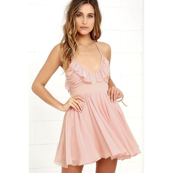 Pixie Palace Blush Pink Skater Dress ($68) ❤ liked on Polyvore featuring dresses, pink, circle skirt, pleated dresses, pleated circle skirt, skater skirts and lace skater skirt