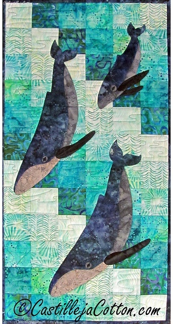 Ocean life and a quilt in one. Awesomeness!