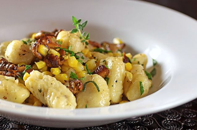Ricotta Gnocchi with Chanterelles, Corn + Sage Brown Butter | Sunday Suppers at Lucques