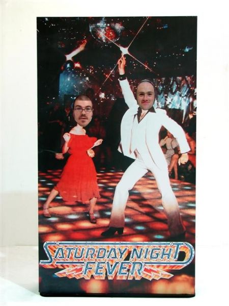 70s Party Theme Hire: Saturday Night Fever Peep Board