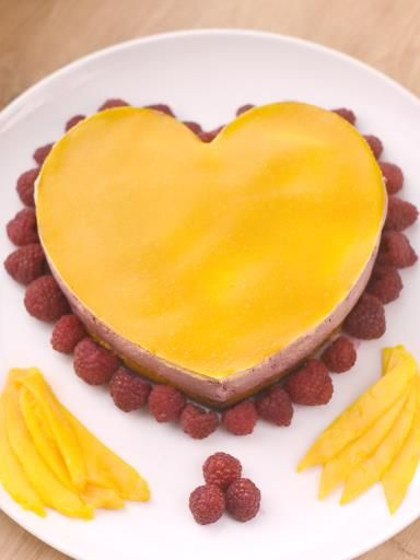 Délice aux framboises et aux fruits de la passion : Recette de Délice aux framboises et aux fruits de la passion - Marmiton