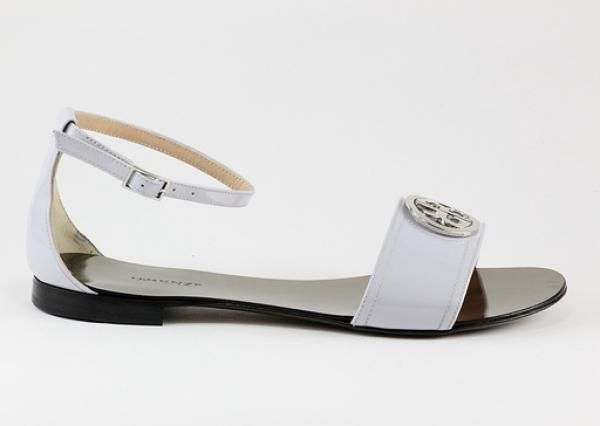 3295 Renzi #SS2014 #Sandals / White Patent #Leather with Metal Logo