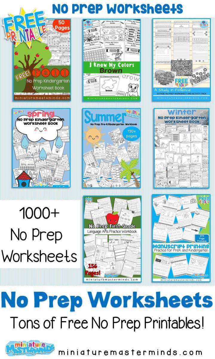 No Prep Printable Worksheet Packs Ages 4 6 Free Preschool Printables Preschool Curriculum Free Free Homeschool Printables