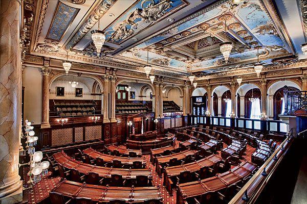 The Illinois Senate Chamber