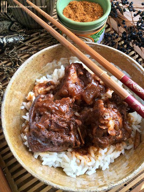 Briciole di Sapori: Pollo alla Nepalese con riso Patna. Una ricetta pi...